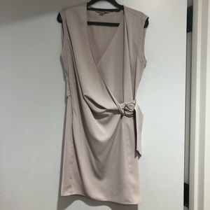 All Saints Nude Modern Wrap Dress